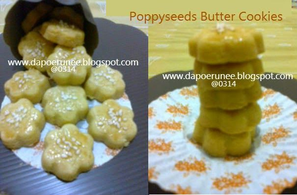 dapoerunee : Poppyseeds Butter Cookies