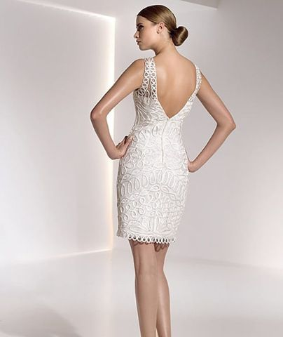 Modelos de Vestidos de Novia Cortos para Boda Civil
