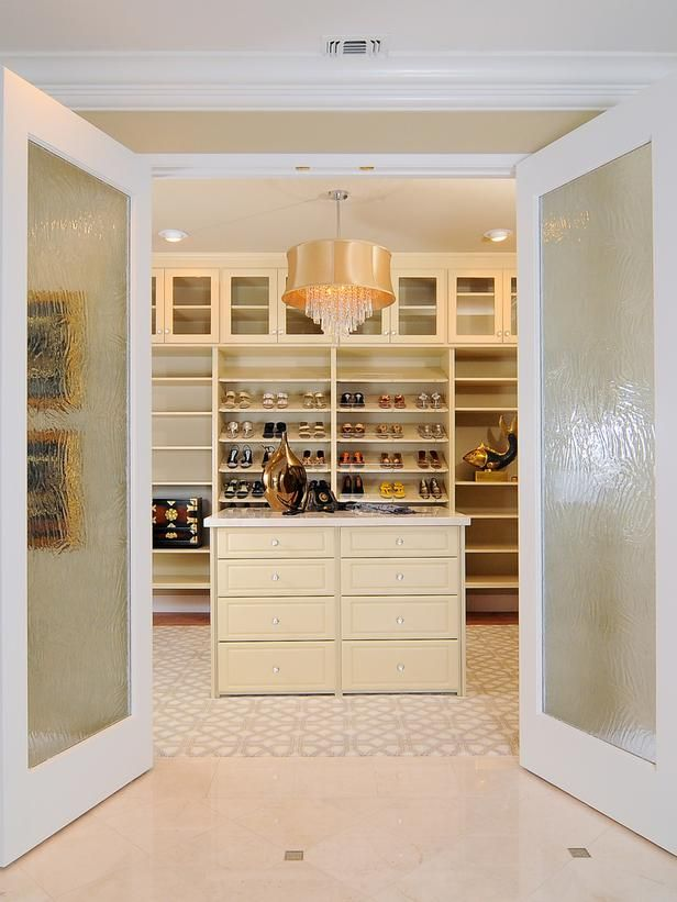 Enchanting Closet Frosted Glass French Doors Create A Grand Entrance Into The
