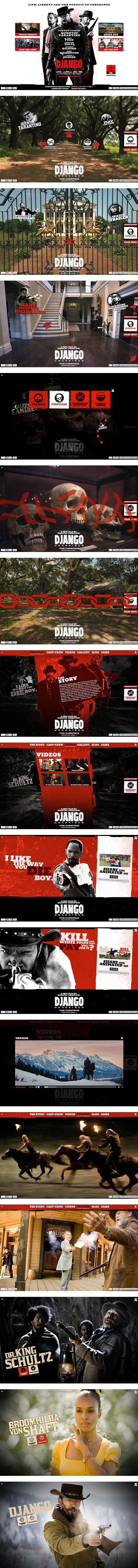 Django Unchained by Ronald Wisse, via Behance *** Theatrical website for the new Quentin Tarantino movie Django Unchained.