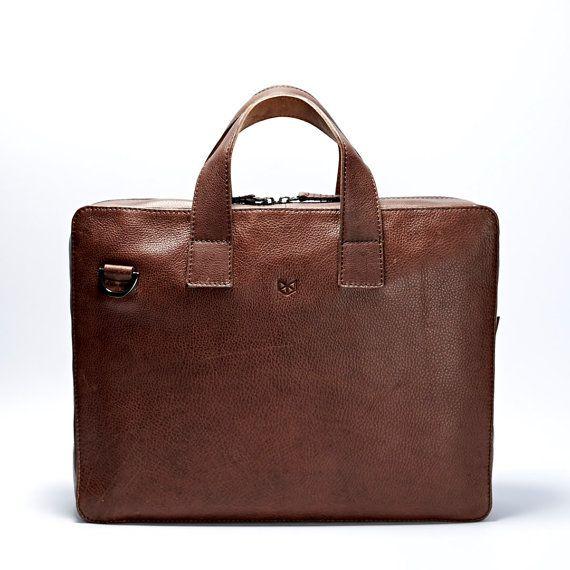 En cuir cartable sac pour ordinateur portable en cuir sac de
