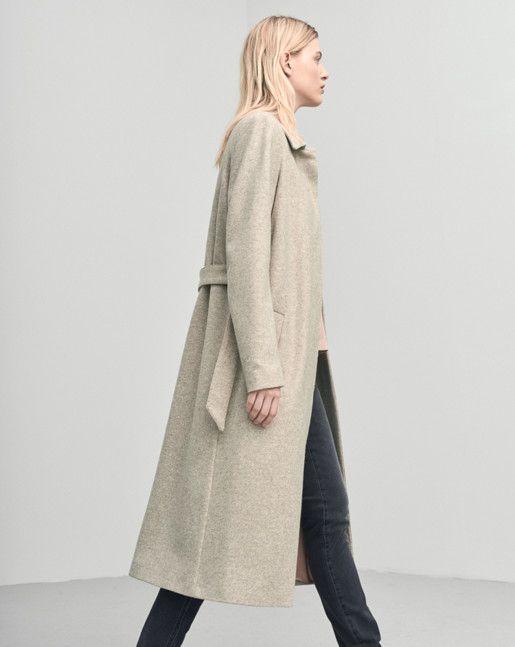 Iza Long Wool Coat Nougat