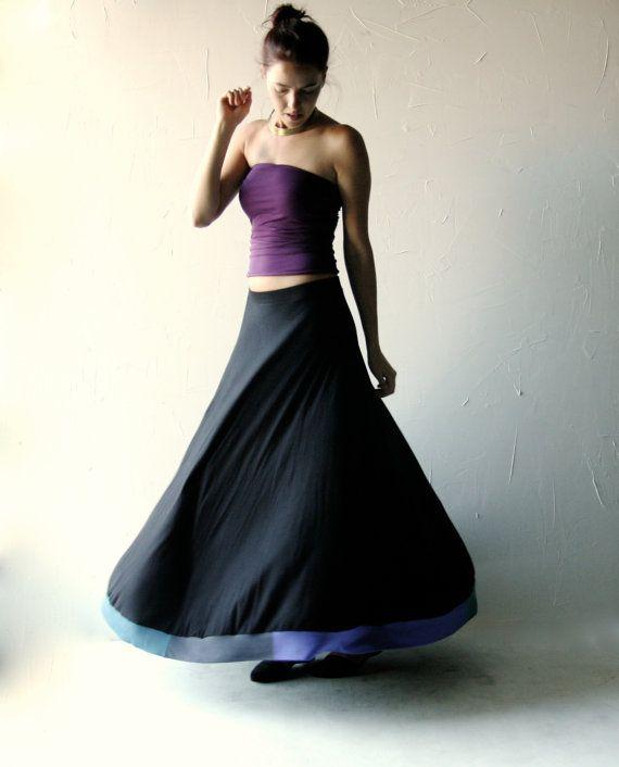 Maxi Skirt Long skirt Boho skirt Floor length skirt by larimeloom