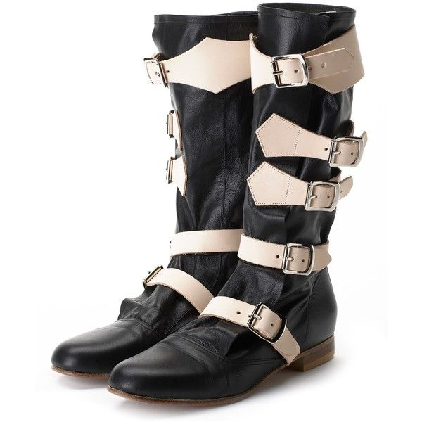 Vivienne Westwood Vivienne Westwood Pirate Boot Black ($750) ❤ liked on Polyvore