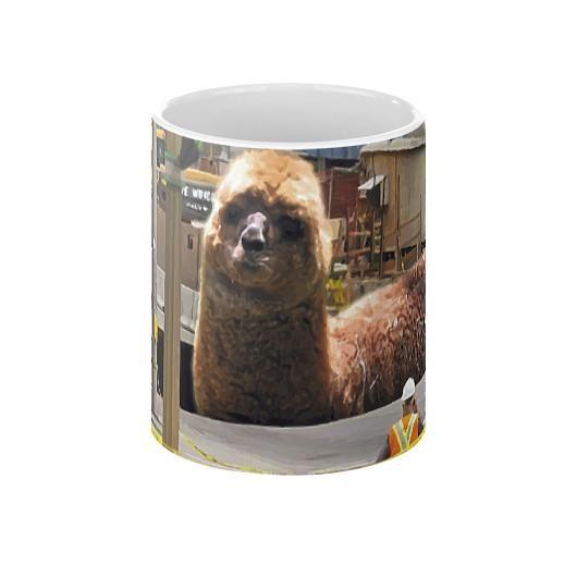 Llama Worm Sinkhole Coffee Mug  Ottawa Sinkhole
