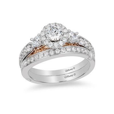 1fce6b018 Enchanted Disney Jasmine 1 CT. T.W. Diamond Three Stone Engagement Ring in  14K White Gold