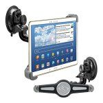 kwmobile Support automobile pour pare-brise pour 10″ Tablet PC – Support voiture avec ventouse en noir – p.e. compatible avec Apple,…