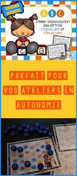 GRATUIT/FREEBIE: atelier de l'alphabet avec bouchons!