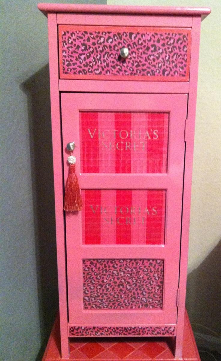 DIY Victoria Secret cabinet