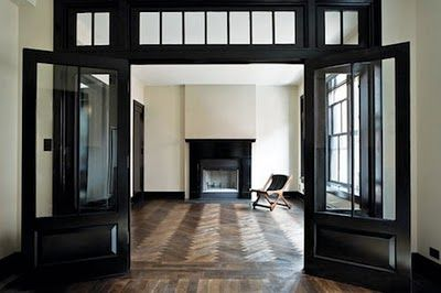 herringbone + black trim