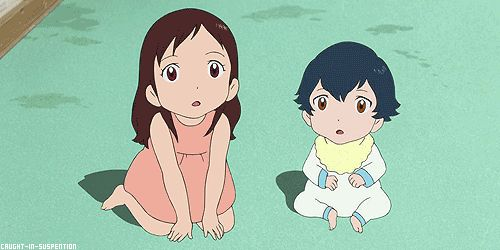 Wolf Children gif. Oh this movie is so good, bit to much at one part but such a good movie, to me at least