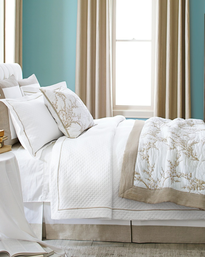Create a quiet luxe bedroom with our pima cotton matelasse for Pima cotton comforter