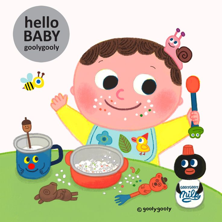 HELLO BABY  -goolygooly illustration