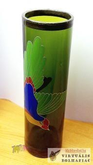Ón peremes üvegváza paradicsommadárral.