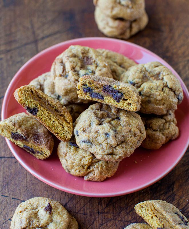 Pumpkin Chocolate Chip Cookies (plus a KitchenAid Stand Mixer Giveaway!! & $Two Hundred from Williams-Sonoma)