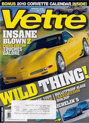 Vette Car Magazine January 2010 Corvette Motorsports Car Racing