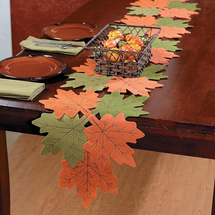 Leaves Table Runner - OrientalTrading.com