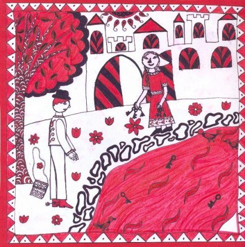 Grafika filctollal, népi motívumok felhasználásával - 2013. ősz | Katolikus Pedagógiai Intézet