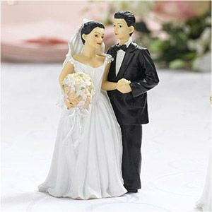 weddingdepotcom wedding cake topper formal couple dark hair this bride