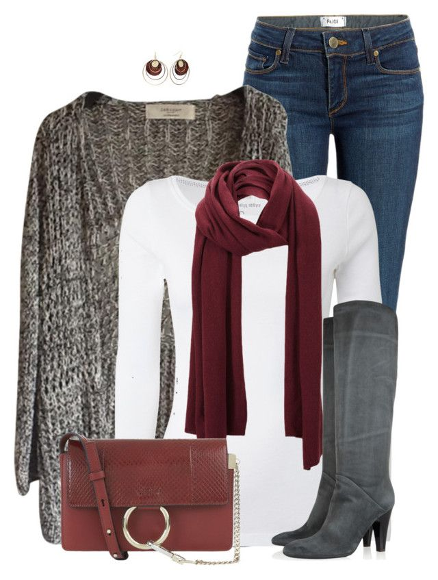 """""""Zara Cardigan"""" by daiscat ❤ liked on Polyvore featuring Paige Denim, White Stuff, SELECTED, Giuseppe Zanotti, Chloé and Daisy Fuentes"""