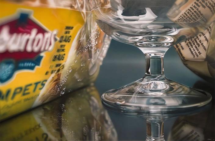 Hyperrealist (acrylic) paintings by Tom Martin.
