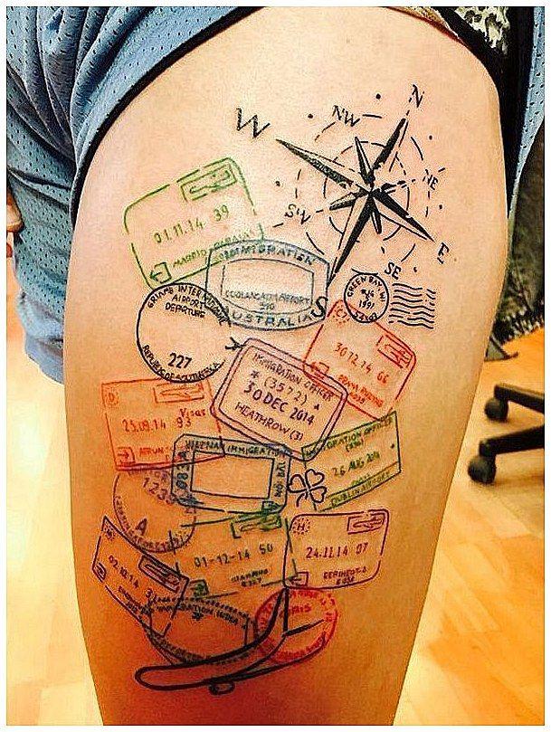 #RetroTattooIdeas #Tattoo Adventurous Tattoo Design (26), click for more info.. – Tattoos