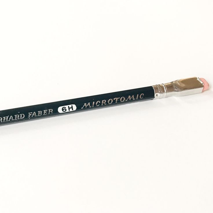Eberhard Faber Microtomic 603 6H Drawing Pencil with eraser (sold individually)