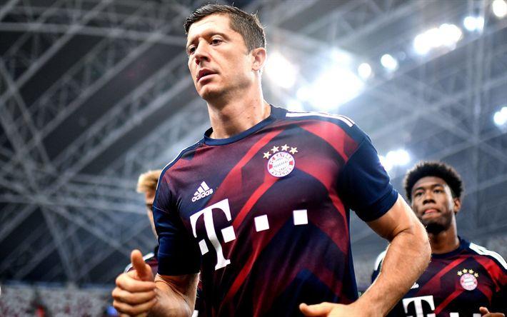 Descargar fondos de pantalla Robert Lewandowski, el Bayern de Munich, Fútbol, soccer, futbolistas