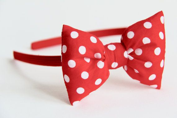 Red Polkadot Alice Band, £6