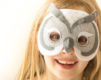 Kids Owl Mask Pattern. Costume sewing pattern. by EbonyShaeDesigns