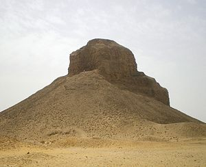 The Black Pyramid was built by King Amenemhat III during the Middle Kingdom of Egypt (2055-1650 BC). It is one of the five remaining pyramids of the original eleven pyramids at Dahshur in Egypt.