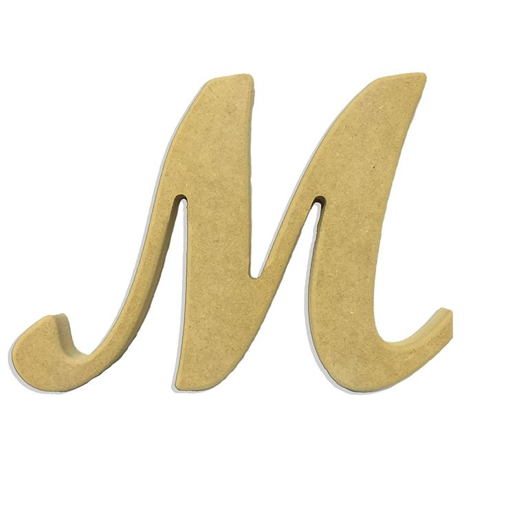 6' Capital Letter M Script Cursive Unfinished Wood DIY Craft Cutout to Sell Ready to Paint Wooden Stacked >>> You can get more details by clicking on the image.