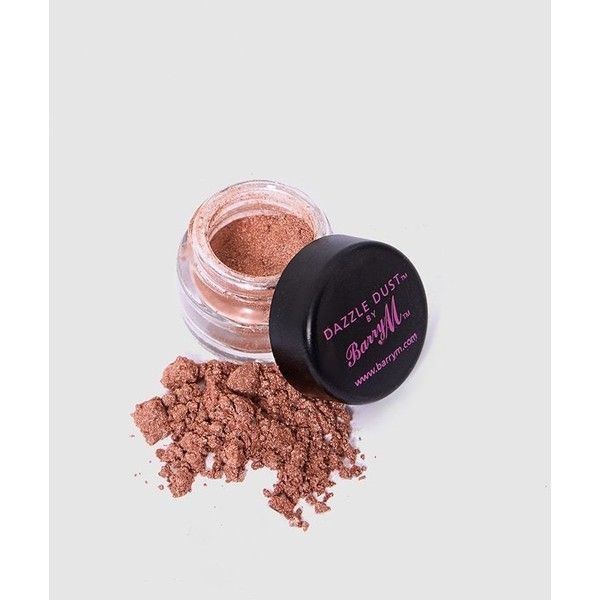 Barry M Dazzle Dust - Rose Gold (74 ZAR) ❤ liked on Polyvore featuring beauty products, makeup and pink