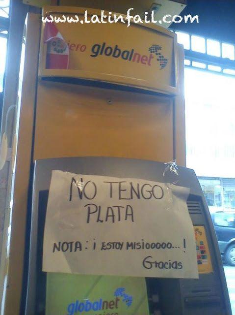 Cajero automatico sin plata - Fotos fail #GlobalNet #humor