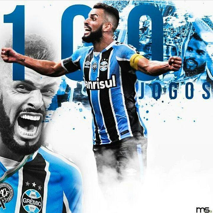 """62 curtidas, 1 comentários - Grêmio FBPA (@gremio_oficial) no Instagram: """"Nosso capitão completou 100 jogos pela camisa do Grêmio! """""""
