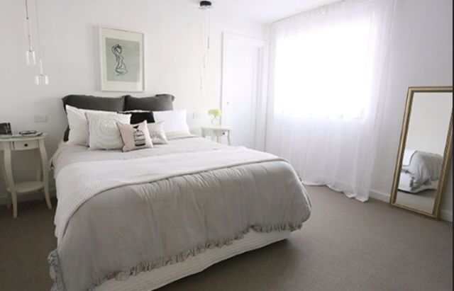 Want to create a dreamy, relaxed sleeping space? Sheer curtains add a touch of romance to any bedroom!