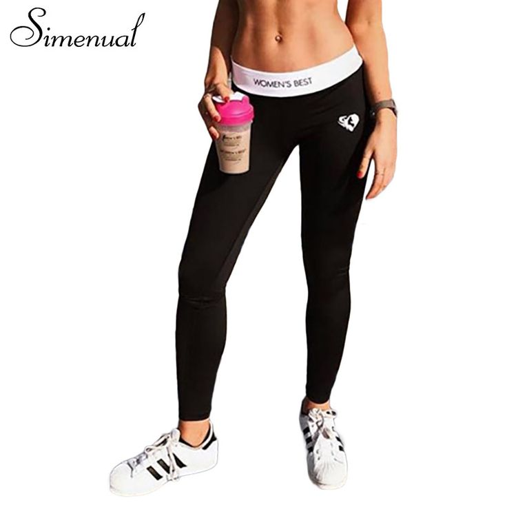 Simenual Bodybuilding black leggings trousers for women athleisure female legging pants sportswear clothing for fitness leggins #Affiliate