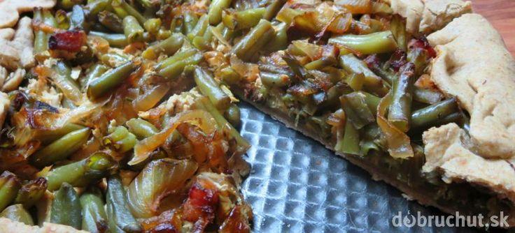 Fotorecept: Pizza s tofu náplňou a zelenou fazuľkou