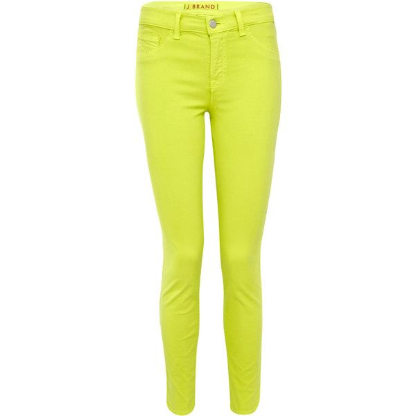 J Brand Yellow 835 Capri Mid-Rise Jeans ($295) found on Polyvore