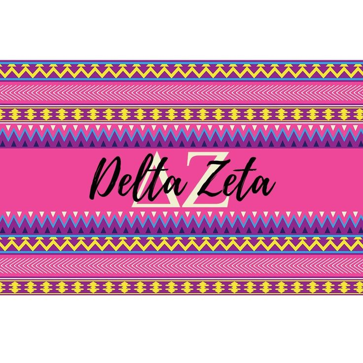 Delta Zeta sorority 3 x 5 foot flag - Pink and purple Aztec - Room decor. My flags are designed by me so you will find these designs no where else ! Decorate your dorm, sorority house or yard with this large, colorful flag. A large 3 x 5 feet, these are a definite statement flag ! -Indoor / Outdoor flag. 100% Polyester Mesh flag. 36 inches x 60 inches. -Two grommets on left side for hanging and are printed with dye sublimation and should be hung outside for short times for display as the...
