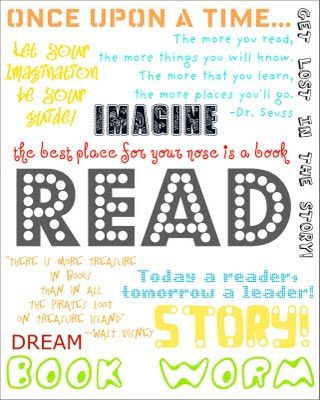 Love this book themed printable
