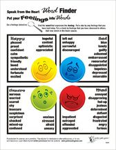 Giving words to various emotions (Groups) (Emotions)