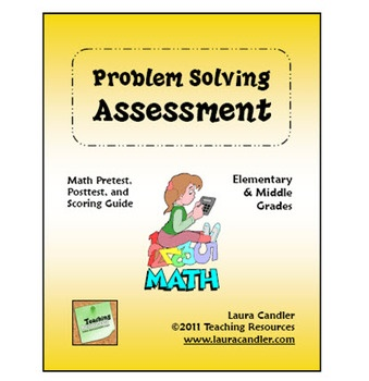 Free Math Word Problem assessment - comes with 4 different levels and is designed for grades 2 through 6