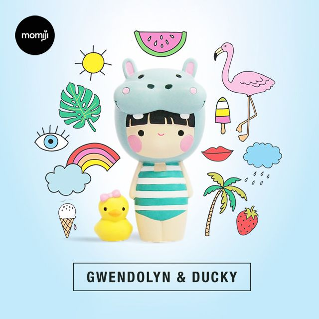 Gwendolyn & Ducky are making a SPLASH this summer.   Limited Edition of just 1500 pieces in the whole, wide world.   Jump right in!  Momiji are message dolls. inside each one there's a tiny folded card for your own hand-written message, dream or wish. Spread the love.   Super kawaii gifts for your favourite people.