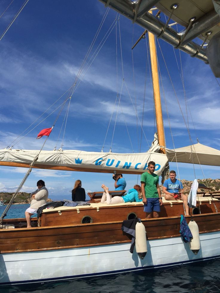"""The """"Guincho"""" is a prestigious vintage sailingboat launched in S. M. Ligure in 1952.The crew members are two local experienced sailors that will accompany you in the calmest spots of the """"Arcipelago"""" , to find a corner of heaven where you can do snorkeling activity in peace and security. #Arcipelago"""