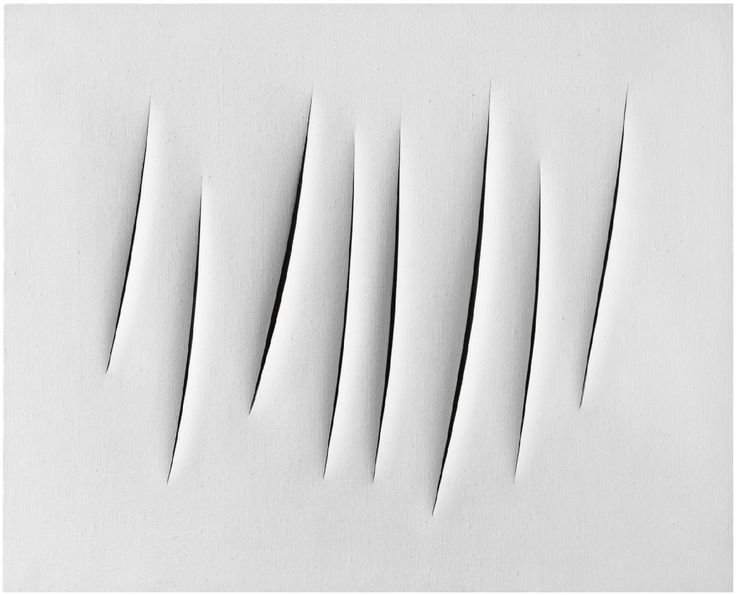Lucio Fontana – Concetto spaziale-Attese, 1965, idropittura su tela, 81x65cm, Milano, Collezione privata.