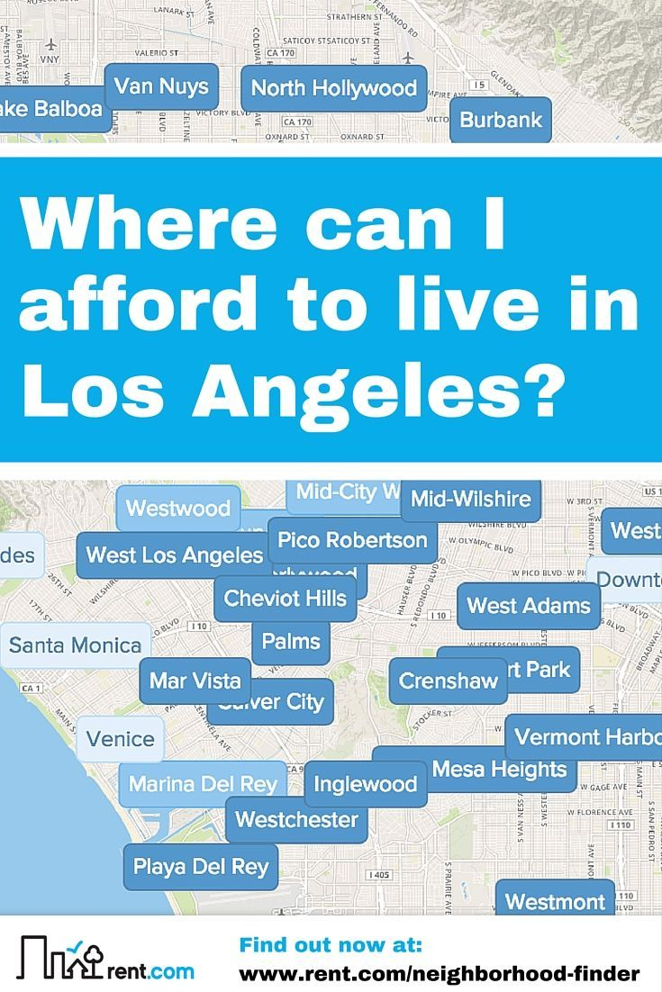 Apartment hunting in Los Angeles? Make it easier with Rent.com's Neighborhood Finder tool. Input your price range and number of bedrooms, and we'll show you what neighborhoods will fit you best.