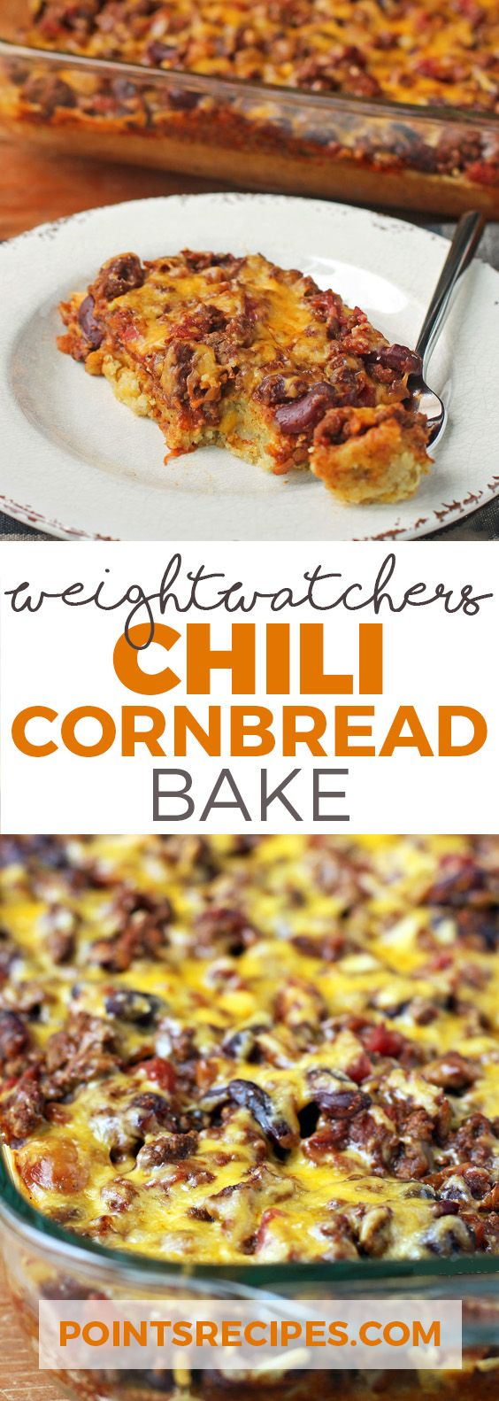 Chili Cornbread Bake (Weight Watchers SmartPoints)