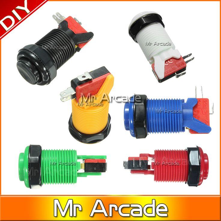 Gratis Pengiriman Baik sentuhan perasaan microswitch arcade mesin game Arcade Tombol dengan Tahan Lama dan MAME pengendali