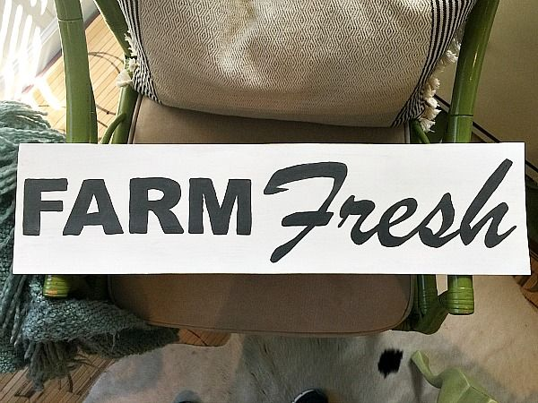 How to make a farm fresh sign. Live the dream of owning a farmhouse in any space. Create this or any sign with these simple instructions!
